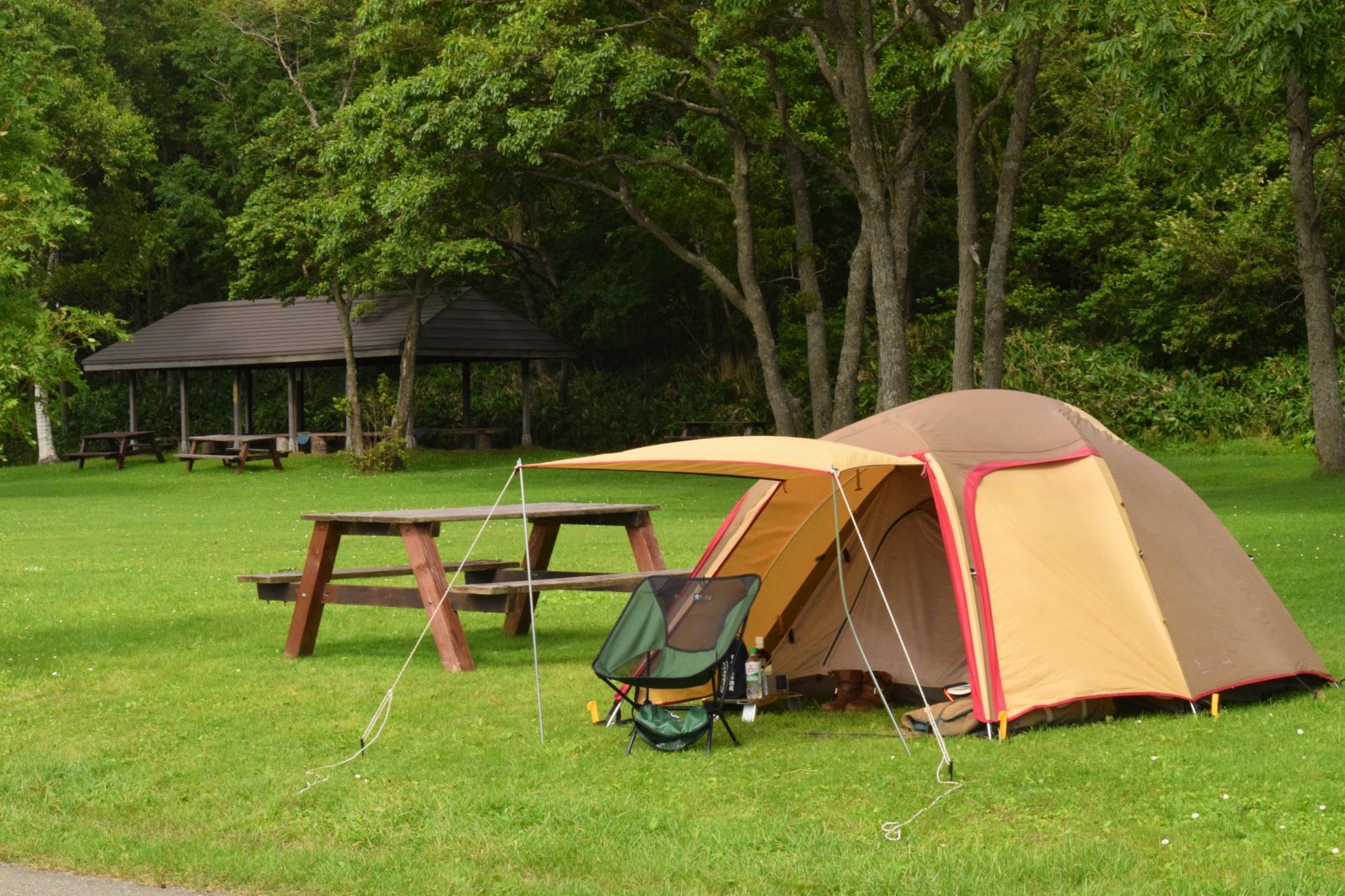 テントで泊まるのはやっぱり